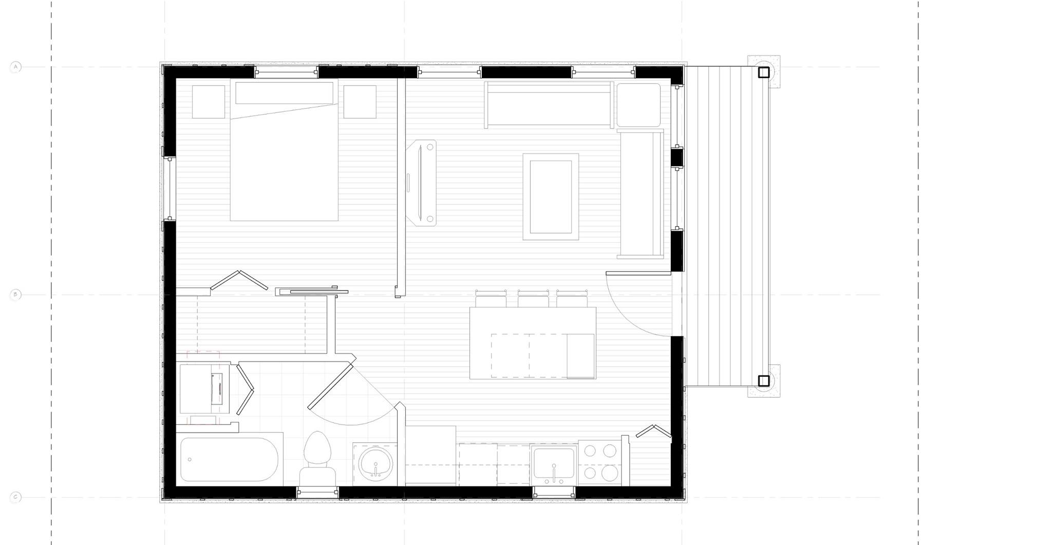 Southside flat jl design build for Accessory dwelling unit plans